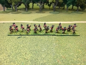 British Light Infantry With Command